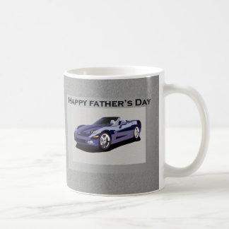 Der Vatertags-blaues konvertierbares Sport-Auto Tasse