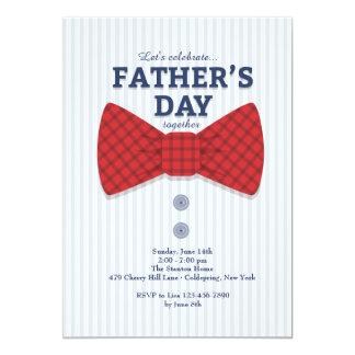 Der Vatertags-Bogen-Krawatten-Einladung