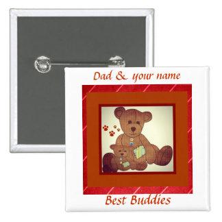 Der Vatertags-Braunbär-Familien-beste Freunde Anstecknadelbutton