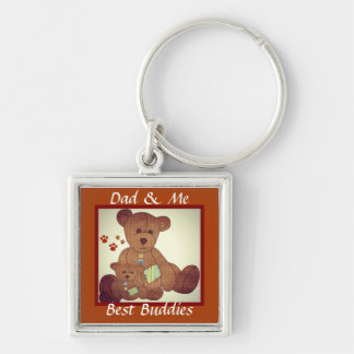 Der Vatertags-Braunbär-Familien-beste Freunde Schlüsselanhänger