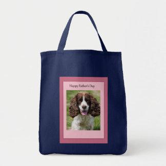 Der Vatertags-Cocker spaniel-Hund Einkaufstasche