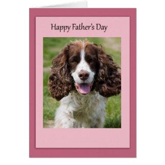 Der Vatertags-Cocker spaniel-Hund Karte