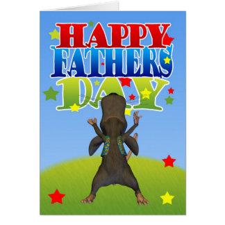 Der Vatertags-der Karte niedliches Mäusezujubeln