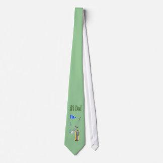 Der Vatertags-der Männer Golf spielendes die Krawa Individuelle Krawatten