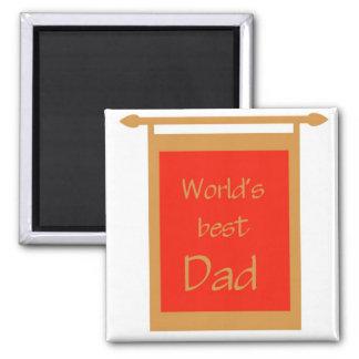 Der Vatertags-der Welt beste der Vati-Fahne Kühlschrankmagnet