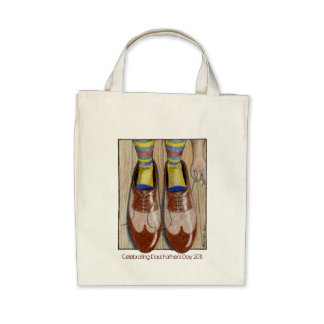 Der Vatertags-des Vatis die Schuhe Einkaufstasche