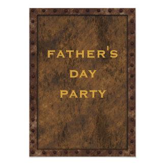 Der Vatertags-Doppeltes Eisen-versah gerahmtes 12,7 X 17,8 Cm Einladungskarte
