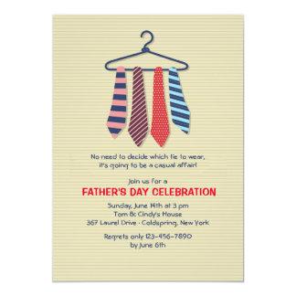 Der Vatertags-Einladung Krawatten- 12,7 X 17,8 Cm Einladungskarte