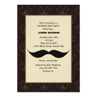 Der Vatertags-Einladung Schnurrbart-
