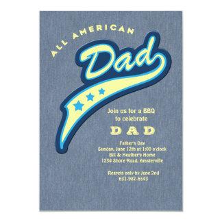 Der Vatertags-Einladung Vati-Denim- 12,7 X 17,8 Cm Einladungskarte