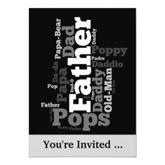 Der Vatertags-Ereignis-Einladung 11,4 X 15,9 Cm Einladungskarte