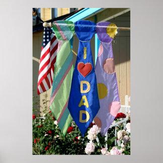 Der Vatertags-Fahne Plakatdrucke