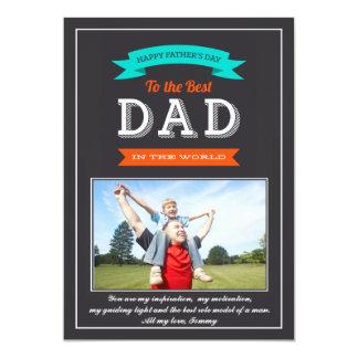 Der Vatertags-Fahnen-Foto-Karte 12,7 X 17,8 Cm Einladungskarte