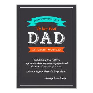 Der Vatertags-Fahnen-Karte 12,7 X 17,8 Cm Einladungskarte