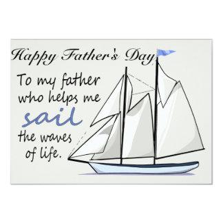 Der Vatertags-flache Gruß-Karte 11,4 X 15,9 Cm Einladungskarte