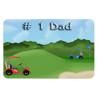 Der Vatertags-flexible Magneten Golf spielendes Recchteckiger Magnet