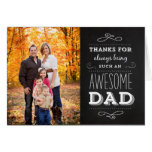 Der Vatertags-Foto-Gruß-Karte Tafel-