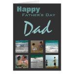 Der Vatertags-Foto-Schablonen-Karte