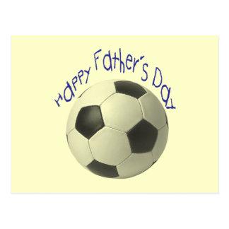 Der Vatertags-Fußball-Geschenke Postkarten