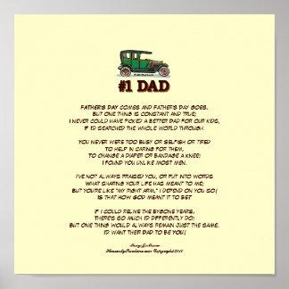 Der Vatertags-Gedicht von der Ehefrau Posterdrucke