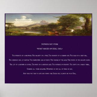 Der Vatertags-Gedichtdruck Poster