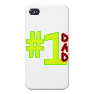 Der Vatertags-Gelb-Rot #1 die MUSEUM Zazzle Gesche Hülle Fürs iPhone 4