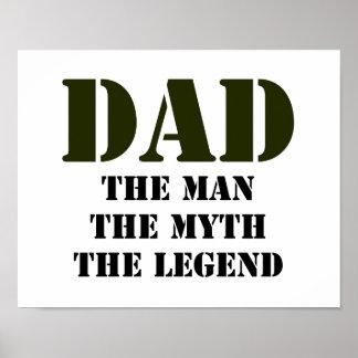 Der Vatertags-Geschenke Plakate