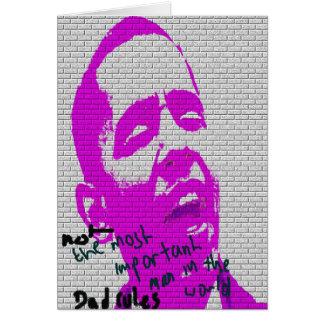 Der Vatertags-Graffiti Grußkarte