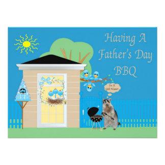 Der Vatertags-Grill-Einladung