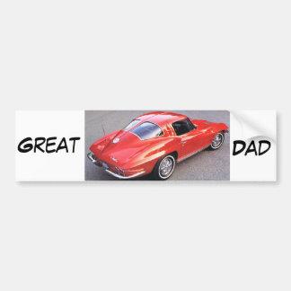 Der Vatertags-großer Vati Autoaufkleber