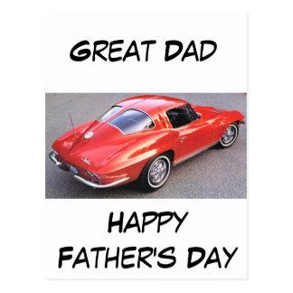 Der Vatertags-großer Vati Postkarte