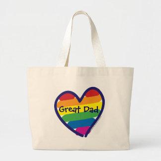 Der Vatertags-großer Vati Einkaufstaschen