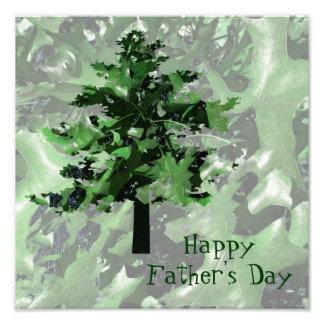 Der Vatertags-Grün-Baum-Silhouette Kunstphoto