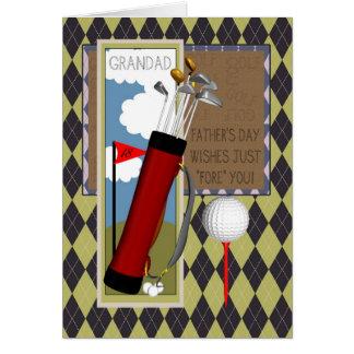 Der Vatertags-Gruß-Karte Grandad-Golfclub- Grußkarte