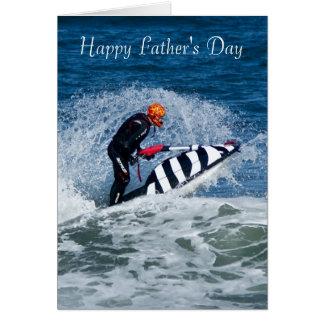 Der Vatertags-Gruß-Karte Jet-Ski-