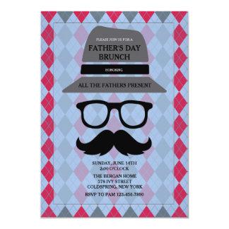 Der Vatertags-Hipster-Einladung 12,7 X 17,8 Cm Einladungskarte