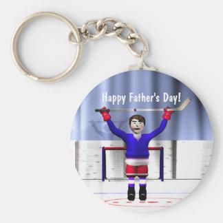 Der Vatertags-Hockey-Sieger Standard Runder Schlüsselanhänger
