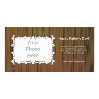 Der Vatertags-Holz und Nägel Photo Karte