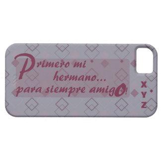 Der Vatertags-Initialen-Bruder Hermano iPhone 5 Schutzhülle