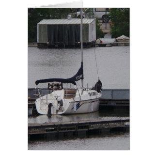 Der Vatertags-Karte Boots- Grußkarte