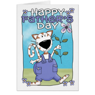 Der Vatertags-Karte - der Vatertags-Karte - Katze