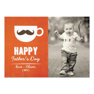 Der Vatertags-Karte des Cappuccino-Schnurrbart- Personalisierte Ankündigung