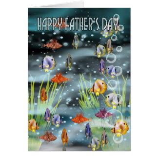 Der Vatertags-Karte Fisch-- Fisch-Karte für das DA