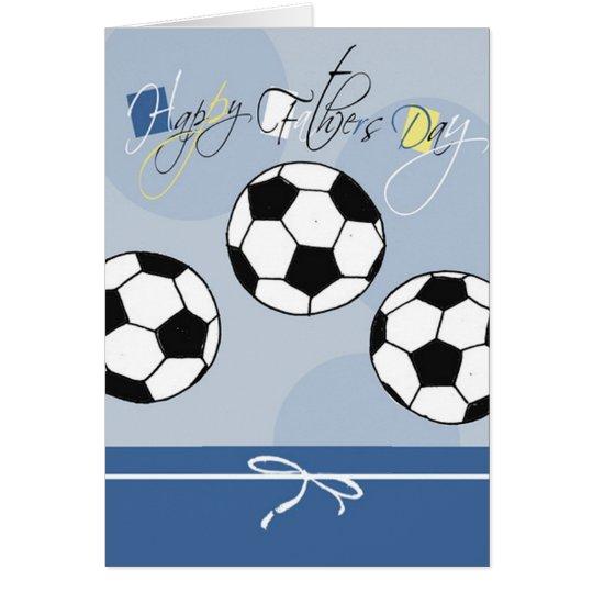Der Vatertags-Karte Fußball- Karte