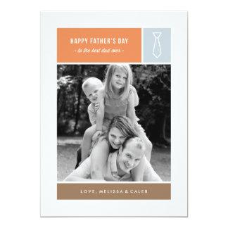 Der Vatertags-Karte gebundenes - staubiges Blau 12,7 X 17,8 Cm Einladungskarte