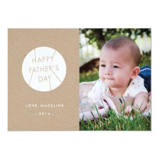Der Vatertags-Karte gestempeltes - Weiß 12,7 X 17,8 Cm Einladungskarte