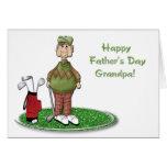 Der Vatertags-Karte Golf-Großvater-