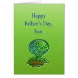 Der Vatertags-Karte Golf-Sohn-