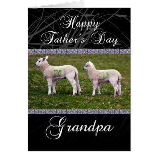 Der Vatertags-Karte Großvater-- Lämmer