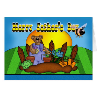 Der Vatertags-Karte - im Garten arbeitenbär